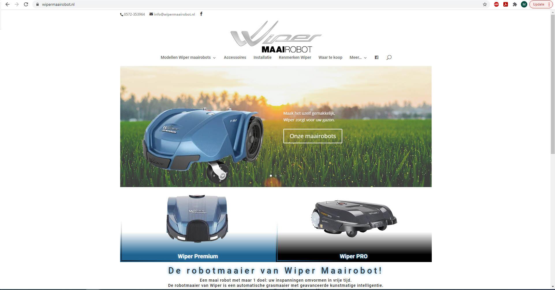 Wiper maairobots